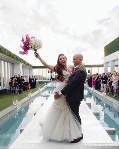#janelleandstevetakemiami Venue: Viceroy Miami Photo: Tom Couture Weddings Dress & Veil: Custom Galia Lahav Floral: Rodri Creations Wedding Coordinator: Catalan Productions