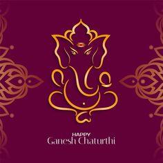Ganesh Chaturthi Greetings, Happy Ganesh Chaturthi Wishes, Ganesh Chaturthi Images, Festival Background, Background Banner, Geometric Background, Background Patterns, Background Templates, Free Vector Graphics