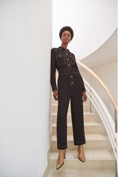 Buy Warehouse Black Topstitch Jumpsuit from the Next UK online shop Brownie Points, Cool Names, Black Jumpsuit, Next Uk, Uk Online, Warehouse, Harem Pants, Capri Pants, Stuff To Buy