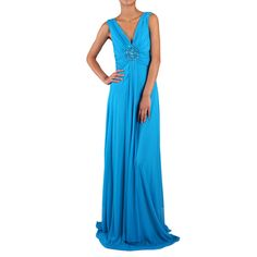 DFI Women's Embellished-waist Shirred Gown - more colors available - $88