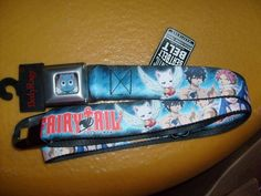 FAIRY TAIL ANIME SEATBELT STYLE ADJUSTABLE POLYESTER BELT OSFM NEW SPENCER' #BELT