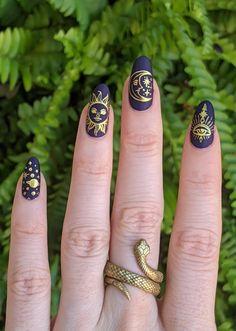 Cute Acrylic Nails, Acrylic Nail Designs, Cute Nails, Pretty Nails, Gel Nails, Grunge Nails, Swag Nails, Moyou Stamping, Stamping Nail Art