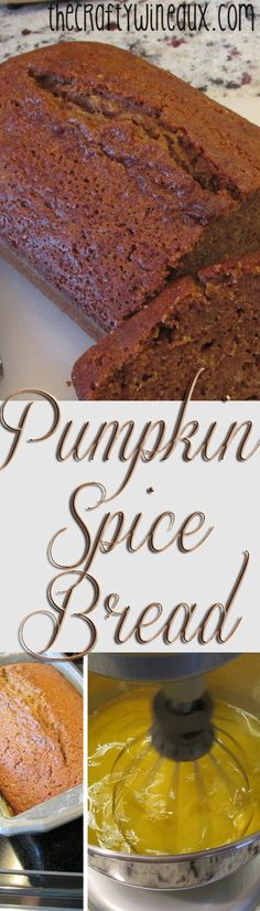 Perfect for fall!! How yummy!!!  http://thecraftywineaux.com/pumpkin-spice-bread-recipe/