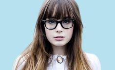 Glasses with bangs