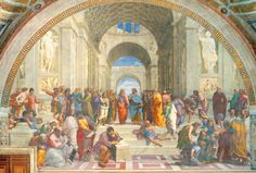 renaissance art with perspective | Raphael Paintings School of Athens