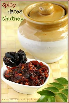 While I am not much of a chutney-pickle-jam person, I couldn't resist trying out the Dates Pickle which I have re-christened as the Dates Chutney because Indian Pickle Recipe, Indian Chutney Recipes, Indian Food Recipes, African Recipes, Date Recipes Indian, Veg Recipes, Curry Recipes, Snack Recipes, Cooking Recipes
