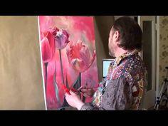 Artist Igor Sakharov.Tulips , a unique technique