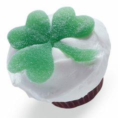 Luck of the Iris Cupcake