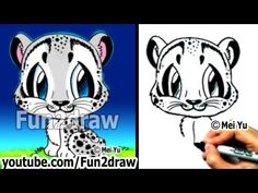 How to Draw Animals - How to Draw a Snow Leopard