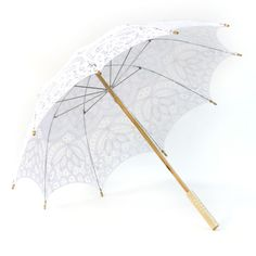 Victorian Lace Parasol Umbrella - White [White Lace Umbrella Parasols] : Wholesale Wedding Supplies, Discount Wedding Favors, Party Favors, ...