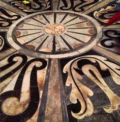 Marble floor design in the Duomo in Florence, Italy #design #marble