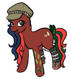 My pony persona Jellybeans drawn by aellos on the MLPArena.