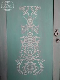 I was asked to transform a chest of drawers and a mirror.I used Annie Sloan chalk paint (colour choice of the owner), and a raised stencil that I created with stucco and atlacol. Green Chest Of Drawers, Annie Sloan Chalk Paint Colors, Facebook Sign Up, Stencils, Colour, Mirror, Painting, Color