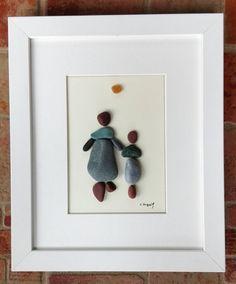 Pebble art mother daughter pebble art family  by pebbleartSmiljana