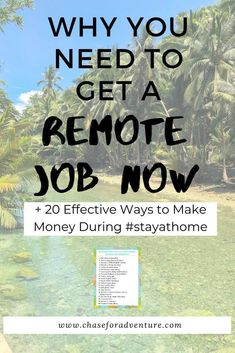 Is Remote Work the Future - Chase for Adventure Earn Money From Home, Way To Make Money, Make Money Online, Legit Work From Home, Work From Home Jobs, Daily Inspiration, Travel Inspiration, Virtual Jobs, Career Ideas