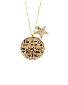 Gold Never Too Late Necklace - JewelMint
