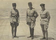 Battle of Sharon - General Otto Liman von Sanders later to command Yildirim Army Group, with Hans-Joachim Buddecke, and Oswald Boelcke in Turkey, 1916