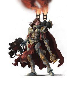 sororitahazel: Canoness by Jeff Porter Warhammer 40k Rpg, Warhammer Fantasy, Game Workshop, Space Marine, Game Art, War Hammer, Deathwatch, Sci Fi Art, Sisters