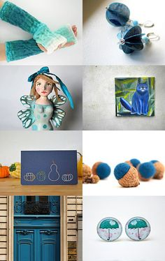 My paper earrings featured here!blue autumn by Stefania Morgante on Etsy--Pinned with TreasuryPin.com