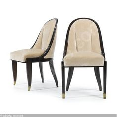 """CUILLERNIC"" CHAIRS, MODEL 92 ca 1930 by Émile Jacques RUHLMANN"