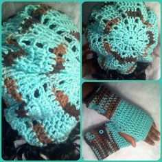 $17.00 Chunky Beret and Fingerless Glove Set  https://www.facebook.com/pages/Simply-Precious-Creations/179062972153118