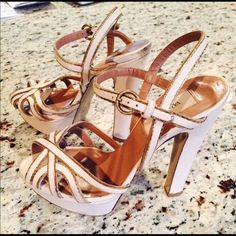Valentino heels Pre loved by me. Some scuffs. Nothing major. With dust bag. Authentic 100% Valentino Shoes Heels