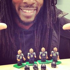 You know it's a big deal when they're in Lego form! Legion Of Boom! (Picture from Richard Sherman's instagram)