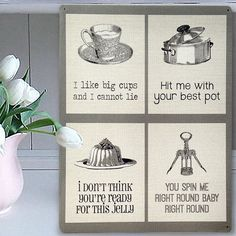 Classic Pop Music Puns 2 Kitchen Mix Metal Sign