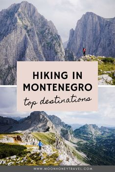 Discover the best places to hike in Montenegro: Durmitor National Park, Komovi Mountains, Bay of Kotor, and Prokletije National Park.   #montenegro #hiking #balkans #prokletije #durmitor #durmitornationalpark #hike #besthikes #hikingdestinations #europetravel #hikingeurope #moonhoneytravel