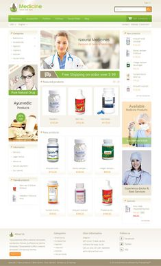 Medicine Prestashop Responsive Theme is designed for #drug and #medical #stores. #Medicine #Prestashop #Responsive #Theme is looking good with green colors. #website
