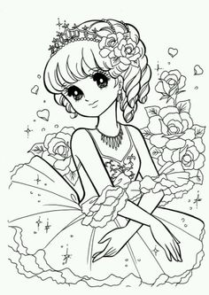 Girls Colouring Pages Coloring Pages For Grown Ups, Free Adult Coloring Pages, Cute Coloring Pages, Coloring Pages To Print, Coloring For Kids, Printable Coloring Pages, Coloring Books, Princess Coloring, Art Anime