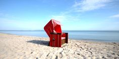 Beach chair in Baltic sea Resort Binz Hotels, Baltic Sea, Beach Chairs, Germany, Relax, Places, Outdoor, Holidays, Beauty