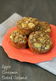 Emily Bites - Weight Watchers Friendly Recipes: Apple Cinnamon Baked Oatmeal Singles