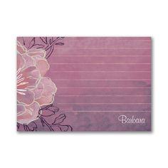 Watercolor - Post It Note Set - Floral