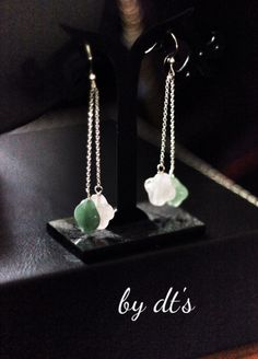 #simplicity is #beauty #PetalCollection : #sterlingsilver #earrings with #aventurine and #rosequartz