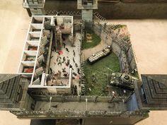 Scott Doland's Walking Dead prison diorama 1