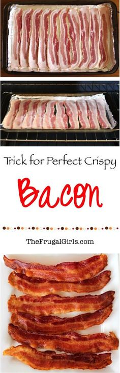 The Trick to Perfect Crispy Bacon! without the mess! ~ from TheFrugalGirls.com ~ this is the only way I cook my bacon now... SO easy!!