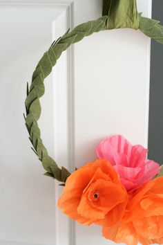DIY Mother's Day Wreath mothers day, diy wreath, poppi wreath, diy mother