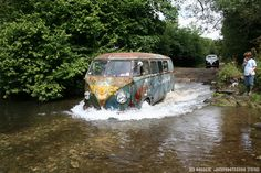 Fording in a Volkswagen by zombikombi1959, via Flickr