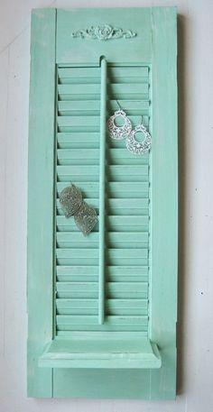 Earring holder from old shutter