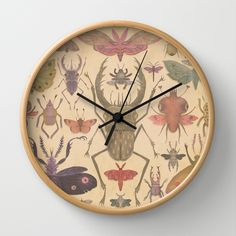 Entomologist's Wish Wall Clock