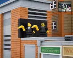 Lego, Pulp Fiction und Banksy in einem: John Travolta und Samuel L. Jackson mit...