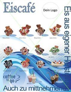 Eis - Eisdiele - DIN A1 Poster/Plakat -Text(Slogan)nach Wunsch - 510 g/m² PVC 12