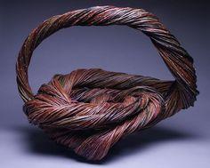 "Basketry, Christine Joy, Artist, Lariat,  willow, 20"" x 27"" x 16"""