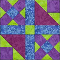 Leap Frog 15 Inch Block Paper Template Quick Quilting Block Pattern PDF by HumburgCreations on Etsy