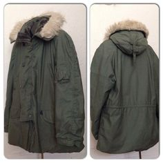 Vintage 1970s 80s Green Military Fur Hooded by diggerodellvintage, $149.00
