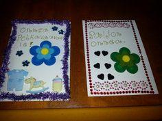 Tässä kanssa mun tekemiä kortteja.UUsi kiva harrastus :)
