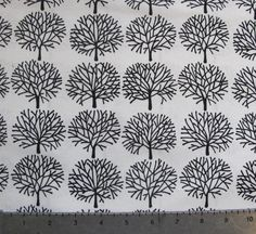 Ghastly Forest Fabric YARD white by RolyPolyCuts on Etsy, $8.25