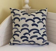 Perennials Swoop in Grotto ( Blues) Indoor Outdoor Designer Pillow Cover by SewSusieDesigns on Etsy