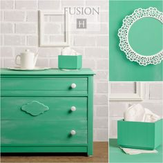Fusion Mineral Paint is your go to DIY Furniture and Decor Paint All in One. Learn more about Fusion Mineral Paint here! Recycled Furniture, Painted Furniture, Home Furniture, Furniture Design, Green Furniture, Refinished Furniture, Furniture Refinishing, Outdoor Furniture, Furniture Stores
